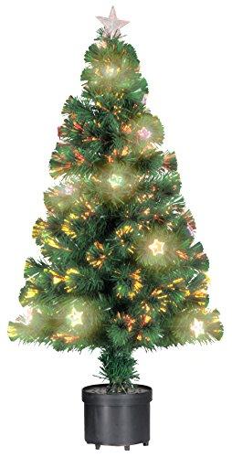 Unbekannt Christmas Gifts 871125278751Albero di Natale–Stelle, 60cm, 60Fibre Optic Tips, Artificiale