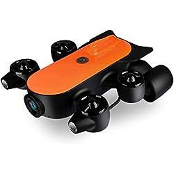 Robot sous-Marin Professionnel Rov Auv De Drone sous-Marin De 150m / 100m avec La Caméra d'action 4k UHD Télécommande De Détection en Temps Réel De Cuisson à La Vapeur pour Visualiser,B
