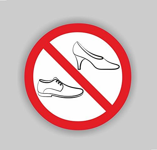 """Aufkleber """"Schuhverbot, Schuhe ausziehen"""", Art. hin_124_100mm, Ø 10cm, Hinweis, Verbot, Schuhverbot, Schuhe ausziehen"""