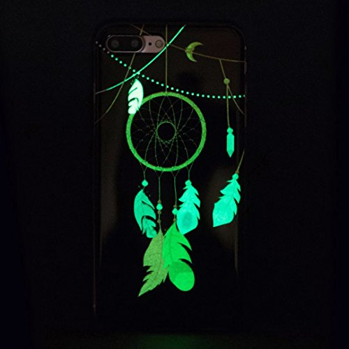 iPhone 7 Plus Hülle, Vandot Malerei Muster Schutzhülle für iPhone 7 Plus Pattern Handyhülle Leuchtend Luminous Noctilucent Case Cover TPU Silikon Abdeckung Handytasche Henna Mandala Blumen Gummi Dünne Color 12