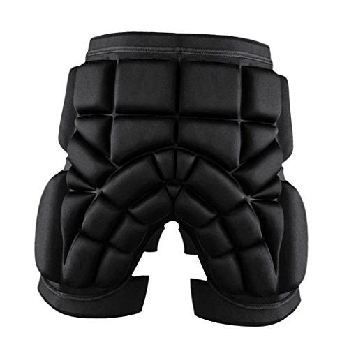MagiDeal Ski Protektoren Gepolstert Hüft Schutz Shorts für Motorradfahren Snowboarden Skaten, Dicke 2.5 cm - Schwarz, L (100cm Snowboard-paket)