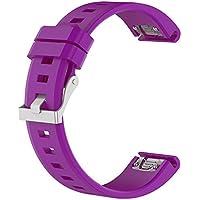 e1f1852b4dc5 MISSWongg Correa de reloj - Silicagel Correa - Garmin Fenix 5 Watch -  MWBD029 (Púrpura