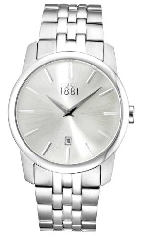 Cerruti 1881 Mens Analogue Classic Quartz Watch with Stainless Steel Strap CRA117SN04MS