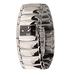 D & G Reloj para hombre de acero altavoz negro