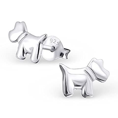 Sterling Silver Scottie Dog / Scottish Terrier Earrings 925 Stamped