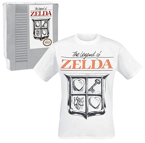 521d4d7ab The Legend Of Zelda Game Cover T-shirt blanc S