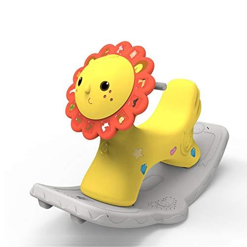 Rocking Horse Nattou Schaukeltiere,Baby Schaukelpferd Plastic Music Rocker Für 1-6 Jahre Altes Kind Little Lion Animal Rocker