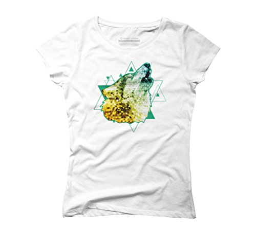 triangle wolf Women's Graphic T-Shirt - Design By Humans White