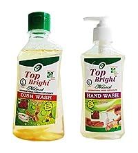 Top Bright Dish Wash 450ml and Hand Wash Liquid 500ml