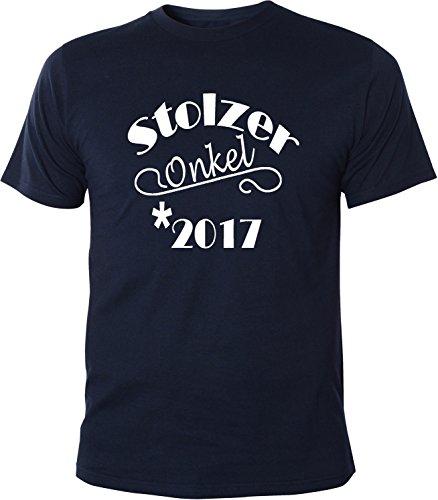 Mister Merchandise Herren Men T-Shirt Stolzer Onkel 2017 Tee Shirt bedruckt Navy