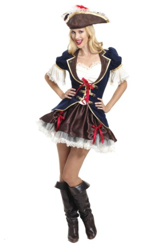 Dguisement-adulte-Femme-Jolie-Capitaine-Pirate-taille-8-10-UK-Small-France