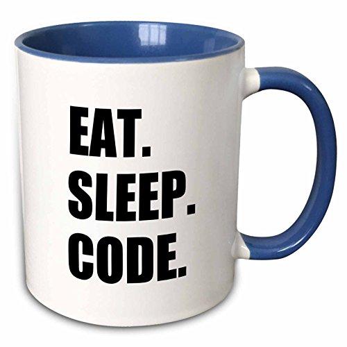 puter Programmierer. Programmierer. Love to Programm. Coding-Two Ton Blau 313ml (Tasse 180391_ 6), Keramik, Blau/Weiß, 11Oz ()