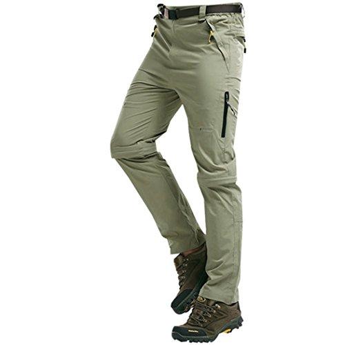walk-leader da uomo Mountain Outdoor Arrampicata Trekking Asciugatura Rapida Pantaloni convertibili Khaki Large