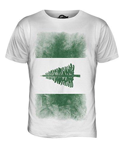 CandyMix Norfolkinsel Verblichen Flagge Herren T Shirt Weiß