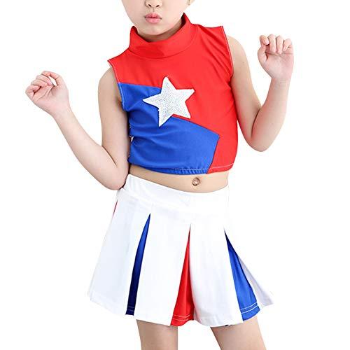 Kinderkostüm Karneval Fasching - Kostüm Mädchen Tanzen Outfit Star Uniform Jungen Oberteil + Rock oder Kurze Hosen ()