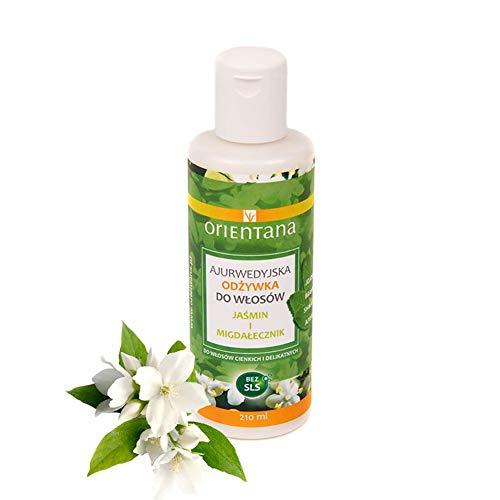 Orientana 100% vegane und natürliche ayurvedische Haarspülung mit JASMIN UND INDISCHEM MANDEL - ohne Silikone, verleiht dem Haar ein gesundes Aussehen, 210 ml -