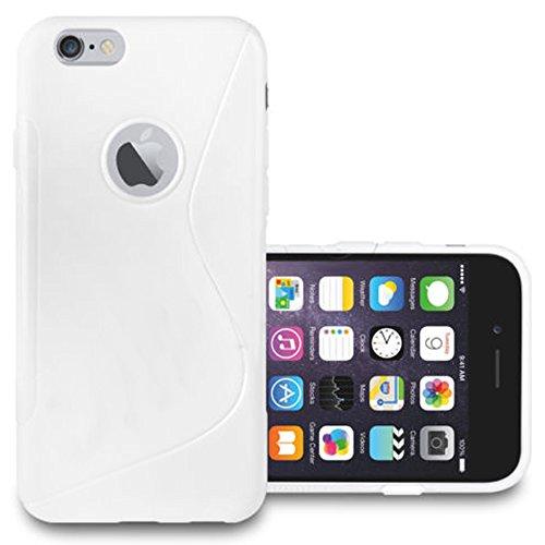 VCOMP® S-Line TPU Silikon Handy Schutzhülle für Apple iPhone 4/ 4S/ 4G + Mini Eingabestift - ROT WEISS
