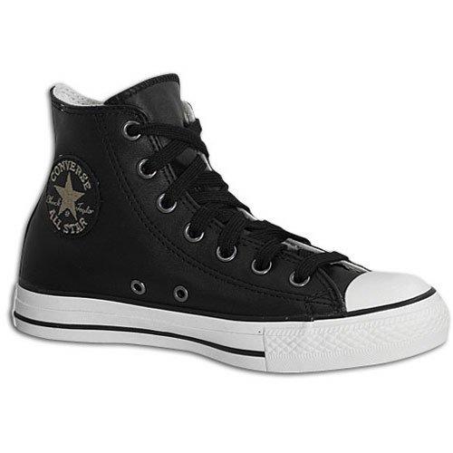 Converse All Star Hi Leather 1V332 Unisex - Erwachsene Sneaker / Freizeitschuhe / High-Top Sneakers Schwarz Schwarz