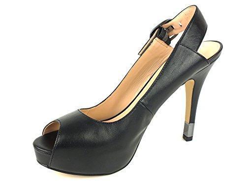 GUESS Femme Escarpins Plateaux Pumps sandales à lanières Noir Noir