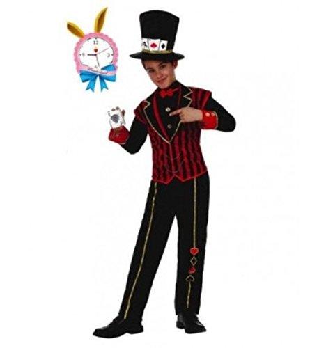 Poker Junge 10-12 Jahre Kinderkostüm (Alice Im Wunderland-kostüme Für Jungen)