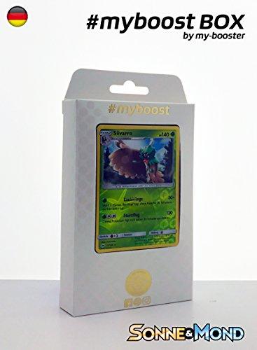 Box #myboost SILVARRO 11/149 140KP SONNE UND MOND 1- 10 Deutsch Karten Pokemon (Pokemon Karten Original-set)