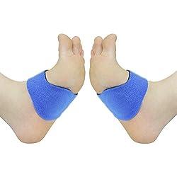 Los soportes de gel para el arco del pie (PAR) son unos soportes suaves de gel que sirven amortiguan golpes y reducen la presión. Asimismo, alivian el dolor y la incomodidad asociados con los pies planos, los pies cavo (arco demasiado alto) y la fascitis plantar.