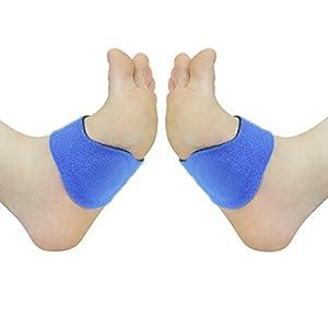 Fußbandage | Bandagen für Hohlfüße, Plantarfasziitis und Plattfüße | Stützt Mittelfuß, Fußgewölbe & Fußballen | Weiches Gel, das sich den ganzen Tag über angenehm anfühlt