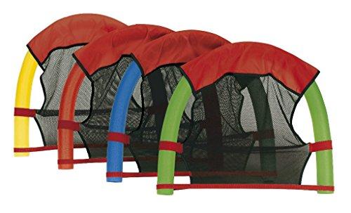 Schwimmnudel 160x7 cm aus PU-Schaum Pool-Noodle Schwimm-Noodle zum Schwimmen Planschen (Wassersitz + Nudel) -