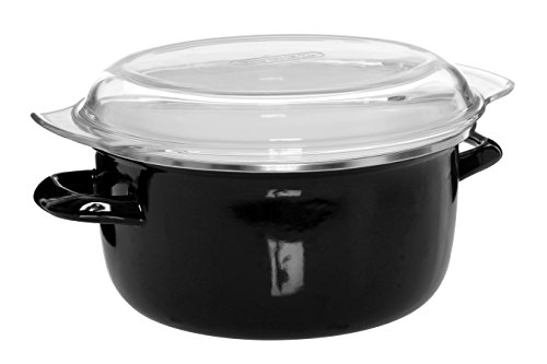41hA1aNregL - Premier Housewares (16 x 33 x 27 cm), 5 L Deep Fryer with Pyrex Lid - Black