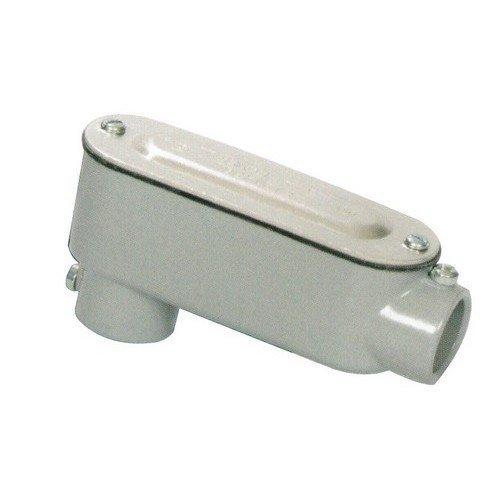 Morris 14153 EMT Set Screw Conduit Body, Aluminum, Type LB, Cover and Gasket, 1-1/4 Thread Size by Morris -