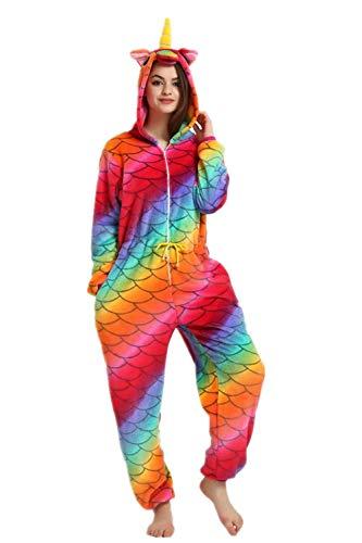 Einhorn kostüme, Schlafanzug, Pyjama,für das Halloween ,Karneval und Weihnachten mit der Kapuze (S, lila Einhorn) ()