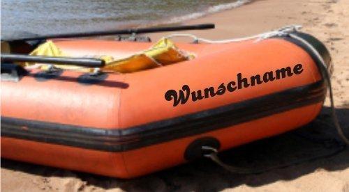 Shirtstown Schlauchboot Wunschname Aufkleber 2 Stück 60cm