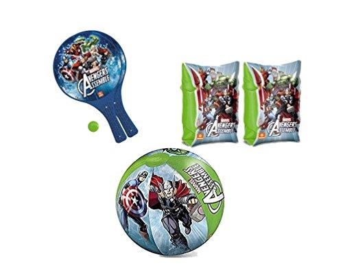 Chance srl irpot - set mare braccioli palla racchettoni per bambini (avengers)