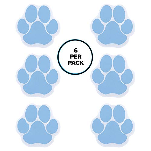 SlipX Solutions Adhesive Paw Bath Treads in Blue