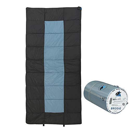 10T Schlafsack BRODIE -13° warm weich 2000g leicht XXL Deckenschlafsack 220x100 Blau / Grau 300g/m²