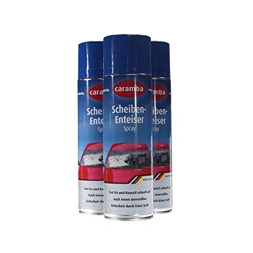 3x Caramba Scheiben Enteiser Scheibenenteiser Spray Sprühdose 500ml (6euro/l)