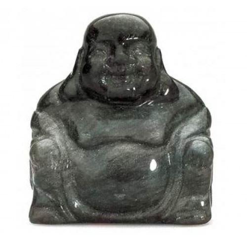 Obsidian Buda semi-precious Gemstone piedra decorativa Decoración del hogar AVN