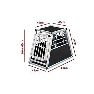 cage N°22 de transport pour chien aluminium