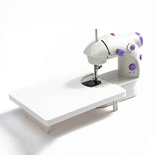 QHGstore Mini Electric Haushalt Nähmaschine Dual Speed ??Double Wire Nutrition Portable Nähmaschine 200 * 150 * 100mm (Portable Fuß Fuß Nähmaschine)