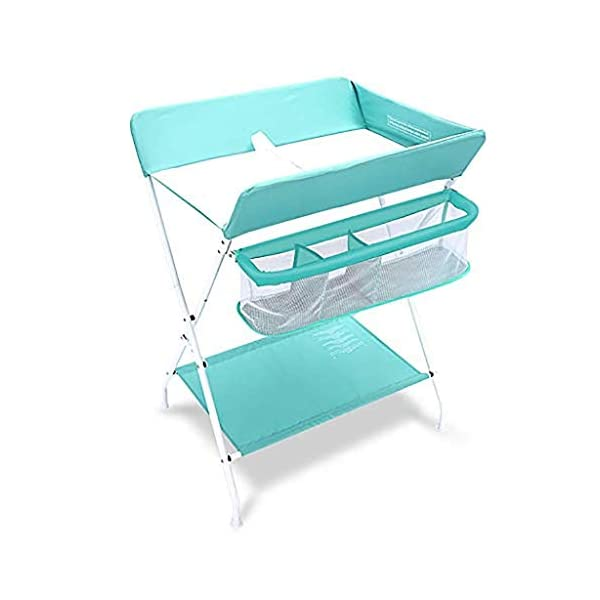 QZQKQ Fold Down Baby Changing Diaper Station Horizontal Wall Mounted Dresser Lightweight Changing Table with Safety Straps Easy to Clean QZQKQ *[Stable Construction]Sturdy metal frame keep the table stable. While the other part is made of durable and wearable oxford cloth. *[Foldable]Easily fold it if you finish all the tasks! With its space saving design, you can store it behind a door. *[Large Storage Space]Equipped with 3 compartments aside the table, you can place soaps, towels and any other accessories conveniently. 1