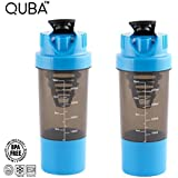 Combo Of 500 Ml Protein Shaker With Cup And Spring Inside