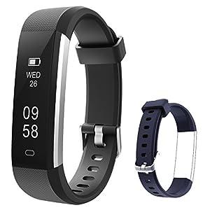 Mpow Fitness Tracker, ID115U Fitness Armbänder mit Einem Extra Blue Wristband für den Ersatz, Schrittzähler, Verfolgung der Schritte