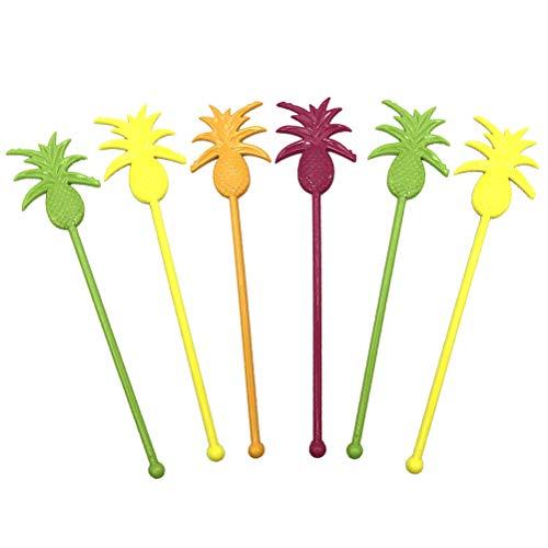 (Amosfun 6 stücke Swizzle Sticks Trinken rührer Ananas Form Nette Sticks Kaffee rührer Wiederverwendbare rührstange für heiße getränke saft Partei liefert)