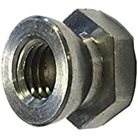 A4 del esquileo de tuerca de M6 de acero inoxidable (Permacone - snapoff - seguridad ) tamaño del paquete : 8