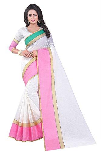 J B Fashion Women's Manipuram Saree With Blouse Piece (Mp-02-1_Pink)