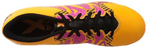 adidas X 15.4 IN, Scarpe da Calcio Uomo Arancione (Solar Gold/Core Black/Shock Pink)