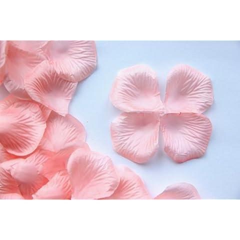 100Salmón Rosa Diseño de pétalos de flor de rosa de seda, bodas y fiestas Confeti