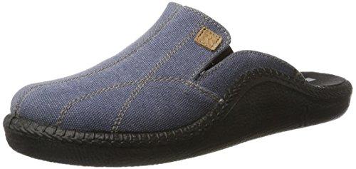 ROMIKA Mokasso 296, chaussons dintérieur homme Bleu jean