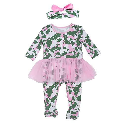 AOOPOO Halloween Kostüm für Baby Mädchen und Kleinkind, Halloween Strampler Kostüm Kürbis Skelett Krankenschwester - Weiches Und Bequemes Kürbis Kleinkind Kostüm