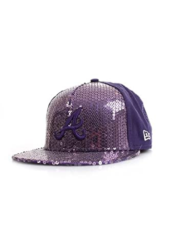 New Era Sequin Snap Atlanta Braves Snapback Cap